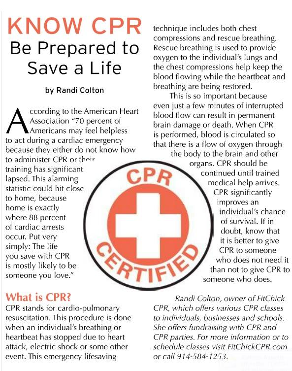 Cpr Classes In Rockland And Bergen Counties Fitchick Cpr